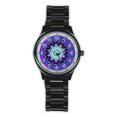 Graphic Isolated Mandela Colorful Stainless Steel Round Watch