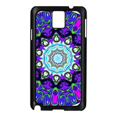 Graphic Isolated Mandela Colorful Samsung Galaxy Note 3 N9005 Case (Black)