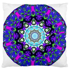 Graphic Isolated Mandela Colorful Standard Flano Cushion Case (two Sides)