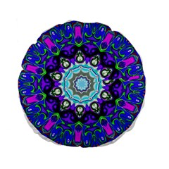Graphic Isolated Mandela Colorful Standard 15  Premium Flano Round Cushions