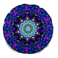 Graphic Isolated Mandela Colorful Large 18  Premium Flano Round Cushions