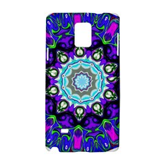 Graphic Isolated Mandela Colorful Samsung Galaxy Note 4 Hardshell Case