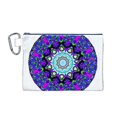 Graphic Isolated Mandela Colorful Canvas Cosmetic Bag (M)