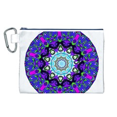 Graphic Isolated Mandela Colorful Canvas Cosmetic Bag (l)