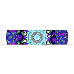 Graphic Isolated Mandela Colorful Flano Scarf (small)
