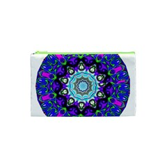 Graphic Isolated Mandela Colorful Cosmetic Bag (xs)