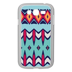 Rhombus hearts and other shapes       Samsung GALAXY S4 I9500/ I9505 Case (White)