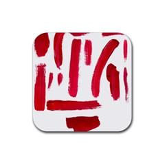 Paint Paint Smear Splotch Texture Rubber Coaster (square)