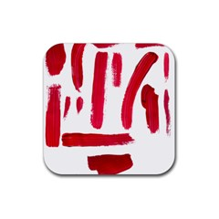 Paint Paint Smear Splotch Texture Rubber Square Coaster (4 pack)