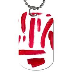 Paint Paint Smear Splotch Texture Dog Tag (One Side)