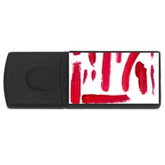 Paint Paint Smear Splotch Texture USB Flash Drive Rectangular (4 GB)