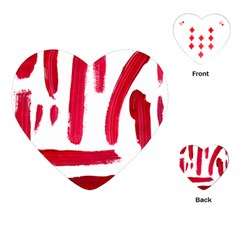 Paint Paint Smear Splotch Texture Playing Cards (Heart)