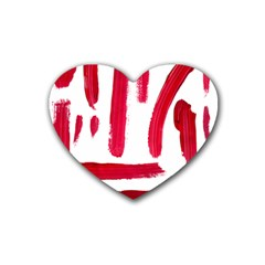 Paint Paint Smear Splotch Texture Rubber Coaster (Heart)