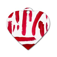 Paint Paint Smear Splotch Texture Dog Tag Heart (One Side)