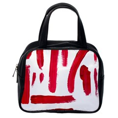 Paint Paint Smear Splotch Texture Classic Handbags (one Side)