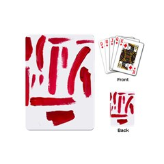 Paint Paint Smear Splotch Texture Playing Cards (mini)