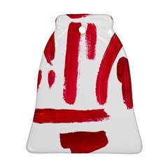 Paint Paint Smear Splotch Texture Ornament (bell)