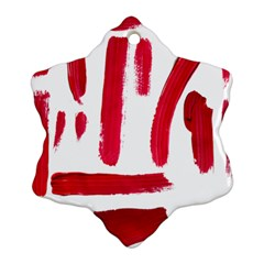 Paint Paint Smear Splotch Texture Snowflake Ornament (two Sides)