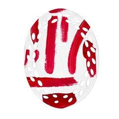 Paint Paint Smear Splotch Texture Oval Filigree Ornament (Two Sides)