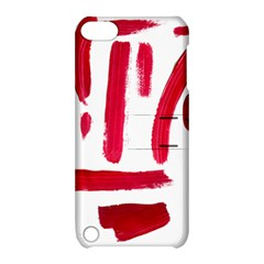 Paint Paint Smear Splotch Texture Apple iPod Touch 5 Hardshell Case with Stand