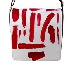 Paint Paint Smear Splotch Texture Flap Messenger Bag (l)