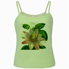 Passion Flower Flower Plant Blossom Green Spaghetti Tank