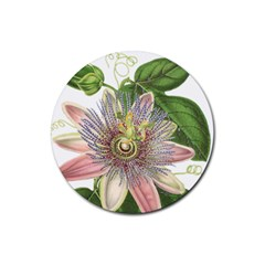 Passion Flower Flower Plant Blossom Rubber Round Coaster (4 pack)