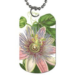 Passion Flower Flower Plant Blossom Dog Tag (Two Sides)