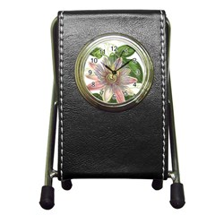 Passion Flower Flower Plant Blossom Pen Holder Desk Clocks