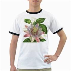 Passion Flower Flower Plant Blossom Ringer T Shirts