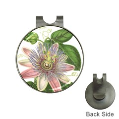 Passion Flower Flower Plant Blossom Hat Clips with Golf Markers