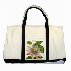 Passion Flower Flower Plant Blossom Two Tone Tote Bag