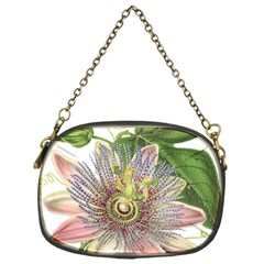 Passion Flower Flower Plant Blossom Chain Purses (one Side)