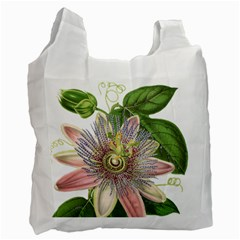 Passion Flower Flower Plant Blossom Recycle Bag (Two Side)