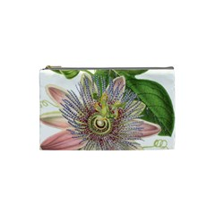 Passion Flower Flower Plant Blossom Cosmetic Bag (Small)