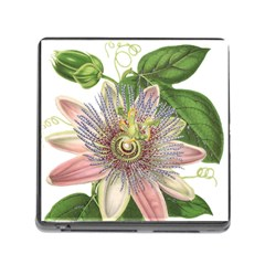 Passion Flower Flower Plant Blossom Memory Card Reader (square)