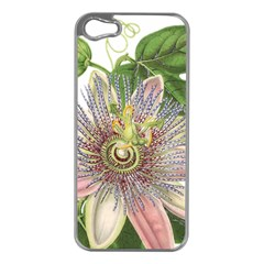 Passion Flower Flower Plant Blossom Apple Iphone 5 Case (silver)