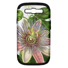 Passion Flower Flower Plant Blossom Samsung Galaxy S III Hardshell Case (PC+Silicone)
