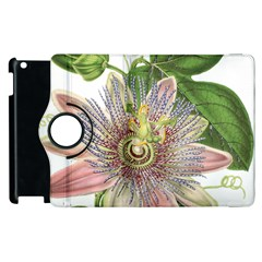 Passion Flower Flower Plant Blossom Apple Ipad 3/4 Flip 360 Case