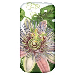 Passion Flower Flower Plant Blossom Samsung Galaxy S3 S Iii Classic Hardshell Back Case