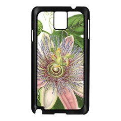 Passion Flower Flower Plant Blossom Samsung Galaxy Note 3 N9005 Case (Black)