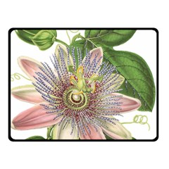 Passion Flower Flower Plant Blossom Double Sided Fleece Blanket (small)