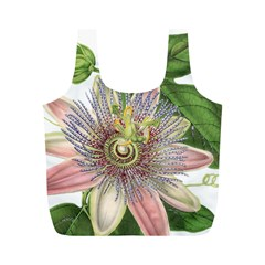 Passion Flower Flower Plant Blossom Full Print Recycle Bags (M)