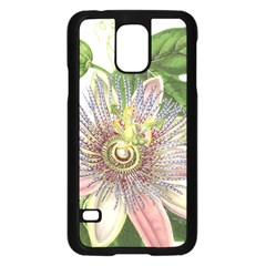 Passion Flower Flower Plant Blossom Samsung Galaxy S5 Case (Black)