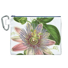 Passion Flower Flower Plant Blossom Canvas Cosmetic Bag (xl)