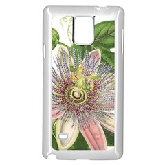 Passion Flower Flower Plant Blossom Samsung Galaxy Note 4 Case (white)
