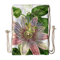 Passion Flower Flower Plant Blossom Drawstring Bag (large)