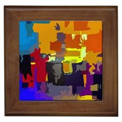 Abstract Vibrant Colour Framed Tiles
