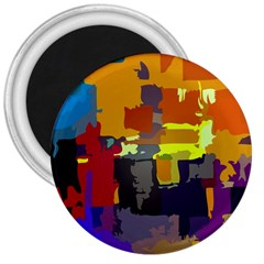 Abstract Vibrant Colour 3  Magnets
