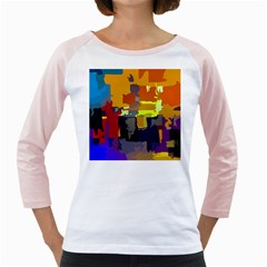 Abstract Vibrant Colour Girly Raglans